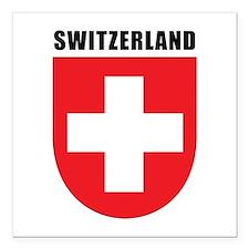 """Switzerland Square Car Magnet 3"""" x 3"""""""