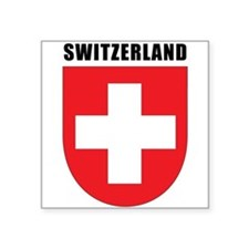 "Switzerland Square Sticker 3"" x 3"""