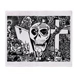 Gothic Skull Art Throw Blanket