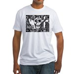 Gothic Skull Art Fitted T-Shirt