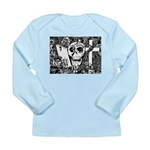 Gothic Skull Art Long Sleeve Infant T-Shirt