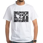 Gothic Skull Art White T-Shirt