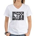 Gothic Skull Art Women's V-Neck T-Shirt