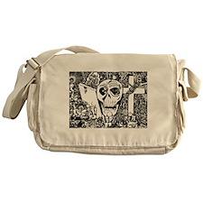 Gothic Skull Art Messenger Bag