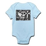 Gothic Skull Art Infant Bodysuit