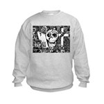 Gothic Skull Art Kids Sweatshirt