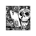 Gothic Skull Art Square Sticker 3