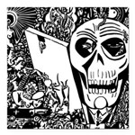 Gothic Skull Art Square Car Magnet 3