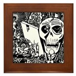 Gothic Skull Art Framed Tile