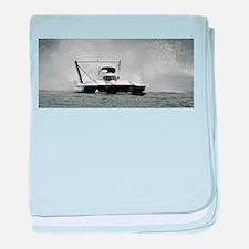 hydroplane baby blanket