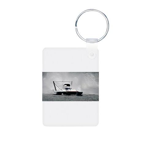 hydroplane Aluminum Photo Keychain