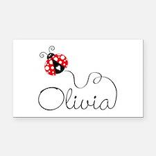 Ladybug Olivia Rectangle Car Magnet