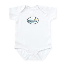St. Simons Island - Oval Design. Infant Bodysuit
