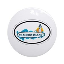 St. Simons Island - Oval Design. Ornament (Round)
