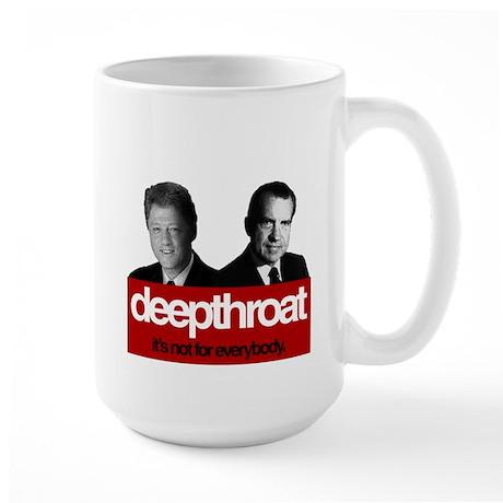 Political Deepthroat Large Mug