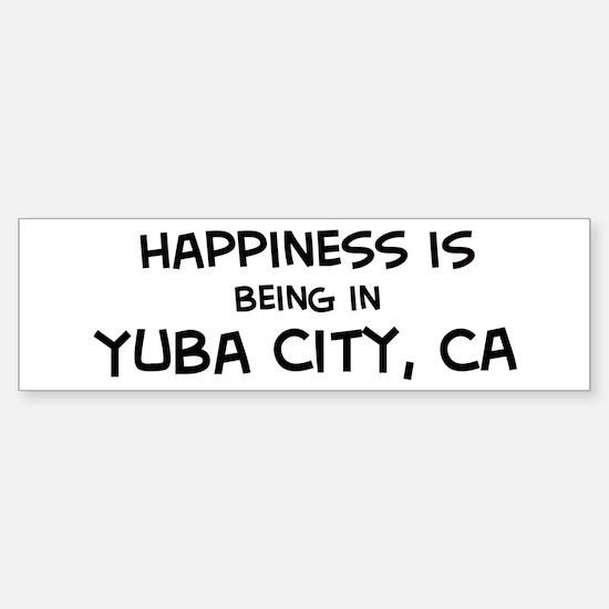 Yuba City - Happiness Bumper Bumper Bumper Sticker