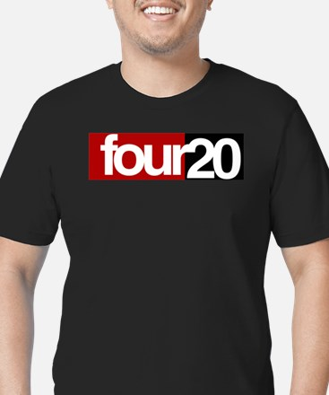 four20 Men's Fitted T-Shirt (dark)