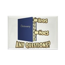 Bros Before Hoes Rectangle Magnet