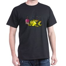 Birthday fish, Fish With Cake and Candle T-Shirt