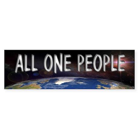 One People Bumper Sticker