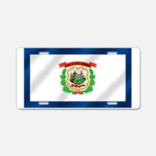 West Virginia State Flag Aluminum License Plate