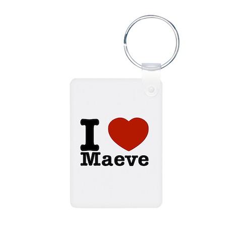 I Love Maeve Aluminum Photo Keychain