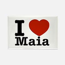 I Love Maia Rectangle Magnet