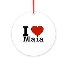 I Love Maia Ornament (Round)