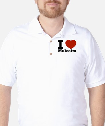 I Love Malcolm Golf Shirt