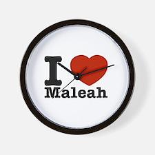 I Love Maleah Wall Clock