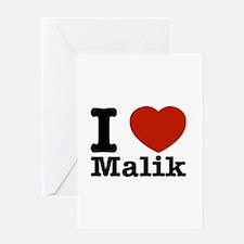 I Love Malik Greeting Card