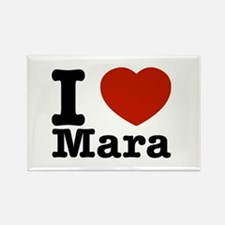 I Love Mara Rectangle Magnet