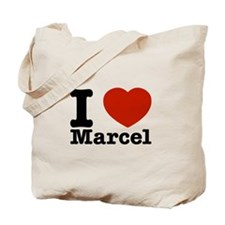 I Love Marcel Tote Bag