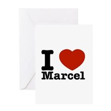 I Love Marcel Greeting Card