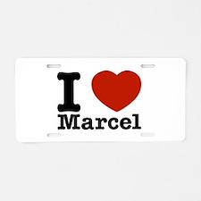 I Love Marcel Aluminum License Plate