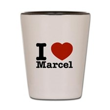I Love Marcel Shot Glass