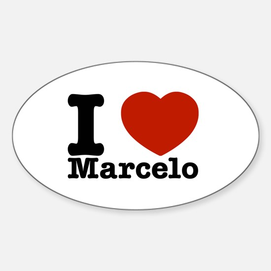 I Love Marcelo Sticker (Oval)