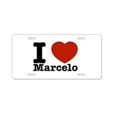 I Love Marcelo Aluminum License Plate