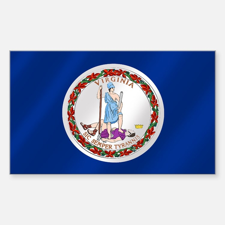Virginia State Flag Sticker (Rectangle)