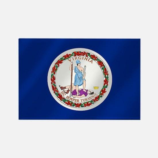 Virginia State Flag Rectangle Magnet