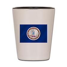 Virginia State Flag Shot Glass