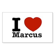 I Love Marcus Decal