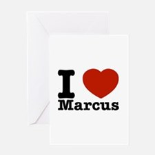 I Love Marcus Greeting Card