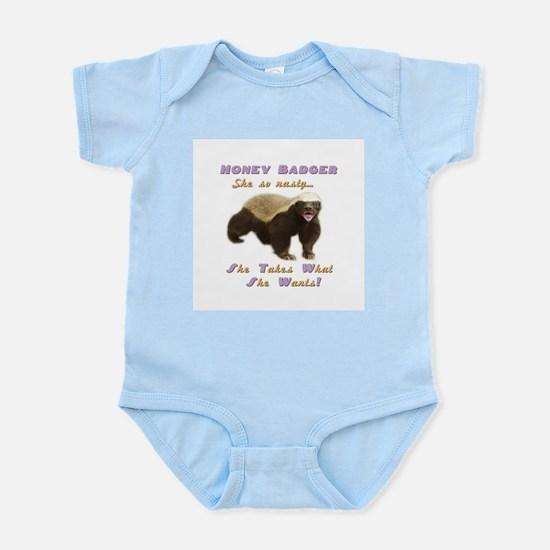 honey badger takes what she wants Infant Bodysuit