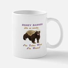 honey badger takes what she wants Mug