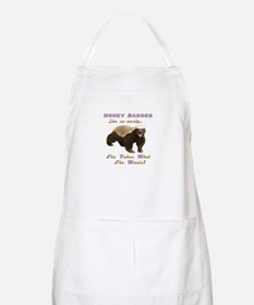 honey badger takes what she wants Apron