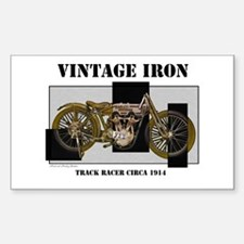 1914 Vintage Iron Rectangle Decal