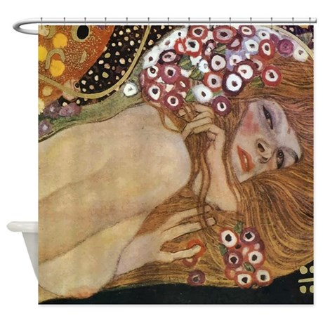 Gustav Klimt Water Serpents 2 (detail) Shower Curt
