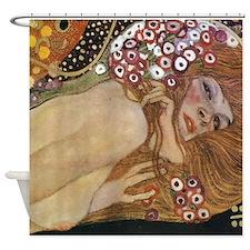 Gustav Klimt Water Serpents 2 (detail) Shower Curt