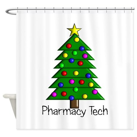 Tree Pharmacy tech.PNG Shower Curtain